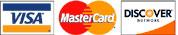 Visa, MasterCard, Discovery